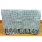 Basket Weave Blue Throw - 130cm x 180cm
