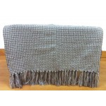 Basket Weave Grey Throw - 130cm x 180cm