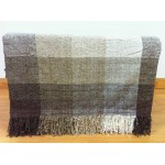 Chenille Check Natural Throw - 150cm x 190cm