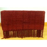 Chenille Plain Red Throw - 130cm x 180cm