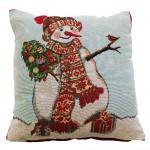 """CC Xmas Happy Snowman - 17"""" Xmas Cushion Cover"""