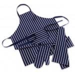 Kitchen Co-Ordinates - 3 Piece Chef Set - Apron / Oven Mitt / Tea Towel - Butcher Stripes