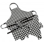 Kitchen Co-Ordinates - 3 Piece Chef Set - Apron / Oven Mitt / Tea Towel - Chef Checks