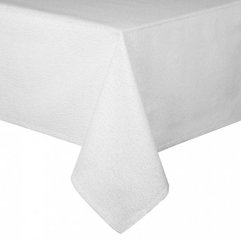 "Glitter White / Silver 69"" Rd - Xmas Table Cloth Range"