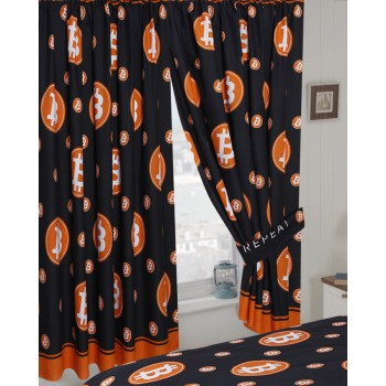 "Bitcoin - 66x72"" Curtains"