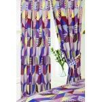 "Geometric Patchwork Berry - 66x72"" Curtains"