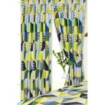 """Geometric Patchwork Lime - 66x72"""" Curtains"""