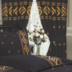 "Athens Black - 66x72"" Curtains"