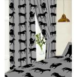 """Horses Grey KZKZ - 66x54"""" Curtains"""