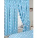 "Stars Duckegg - 66x72"" Curtains"