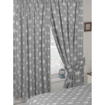 "Stars Grey - 66x54"" Curtains"