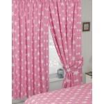 "Stars Pink - 66x72"" Curtains"