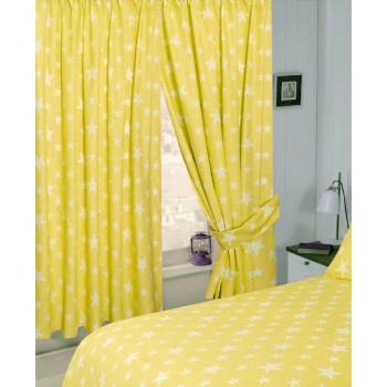 "Stars Yellow - 66x72"" Curtains"