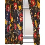 """Angry Birds 'TNT' Black - 66x54"""" Curtains"""
