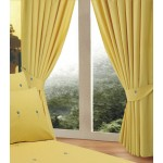 "Bellis Yellow - 66x54"" Curtains"