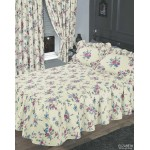 Elizabeth Blue Fitted Bedspread - DB