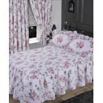 Elizabeth Purple Fitted Bedspread - KS