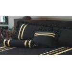 Glamour Black / Gold Trim - Cushion