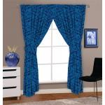 "Autumnal Blue - 66x54"" Curtains"