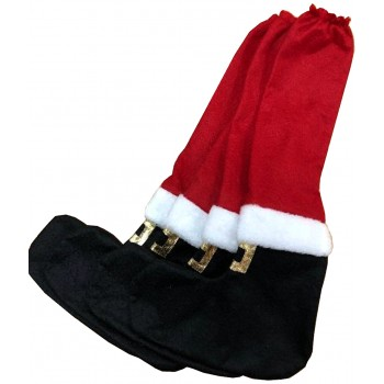 Felt Boots Santa 4PK - Xmas Chair Legs