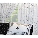 """Tetris 'Monochrome' White - 66x54"""" Curtains"""