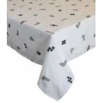 """Tetris 'Monochrome White' - Tablecloth 54""""x54"""""""
