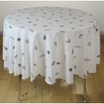 """Tetris 'Monochrome White' - Tablecloth 70"""" RD"""