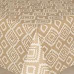 Acrylic Geo Beige - Acrylic Coated Table Cloth Range