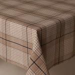 Acrylic Harbour Check Blue - Acrylic Coated Table Cloth Range
