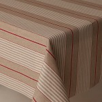 Acrylic Harbour Stripes Red - Acrylic Coated Table Cloth Range