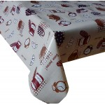 PVC Breakfast Brown - Vinyl Table Cloth Range