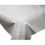 Acrylic Grey Spiro - Acrylic Coated Table Cloth Range