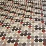 Acrylic Grey Spots - Acrylic Coated Table Cloth Range