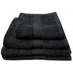 CT Black Bath Sheet - 100% Cotton, 500 GSM