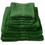 CT Bottle Green Bath Sheet - 100% Cotton, 500 GSM