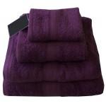 CT Aubergine Purple Bath Sheet - 100% Cotton, 500 GSM
