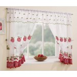 "Winchester Red - 47x48"" Curtains, Valance, Tie-Backs"