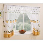 "Winchester Yellow - 47x42"" Curtains, Valance, Tie-Backs"