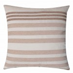 "CC Chenille Stripe Nat - 16"" Cushion Cover"