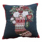"CC Xmas Winter Stocking - 17"" Xmas Cushion Cover"