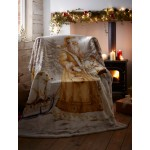Sherpa Backed Throw Twilight Santa - Xmas