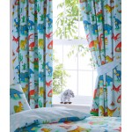 "Dinosaurs Blue - 66x72"" Curtains"