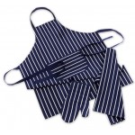 Kitchen Co-Ordinates - 3 Piece Chef Set - Apron / Oven Mitt / Tea Towel - Butcher Stripes