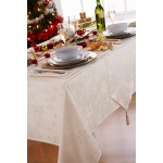 "Blizzard Cream 52""x52"" - Xmas Table Cloth Range"