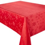 "Blizzard Red 52""x52"" - Xmas Table Cloth Range"