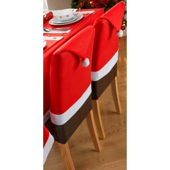 Santa's Table 2PK Chair Backs - Xmas Table Cloth Range