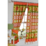"Daisy Check Citrus - 66x72"" Curtains"