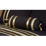 Glitz Black With Gold Trim - Neck Roll