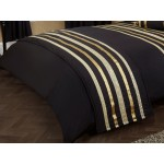 Glitz Black With Gold Trim - Bed Runner