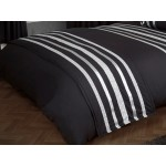 Glitz Black With Silver Trim - Bed Runner